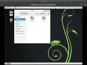 GNOME 3.8 Classic view
